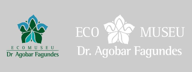 Logomarca do Ecomuseu Dr. Agobar Fagundes e o redesign da mesma, desenvolvido pela Tríscele.