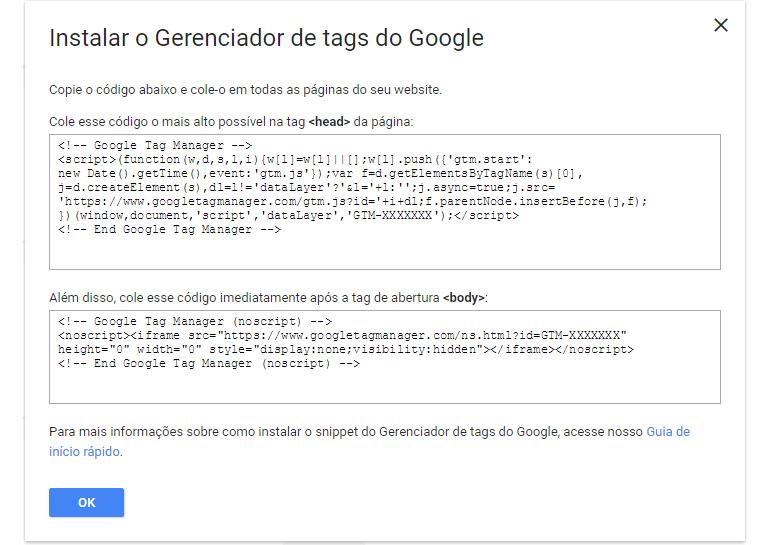 Instalar Gerenciador de Tags do Google - Tríscele