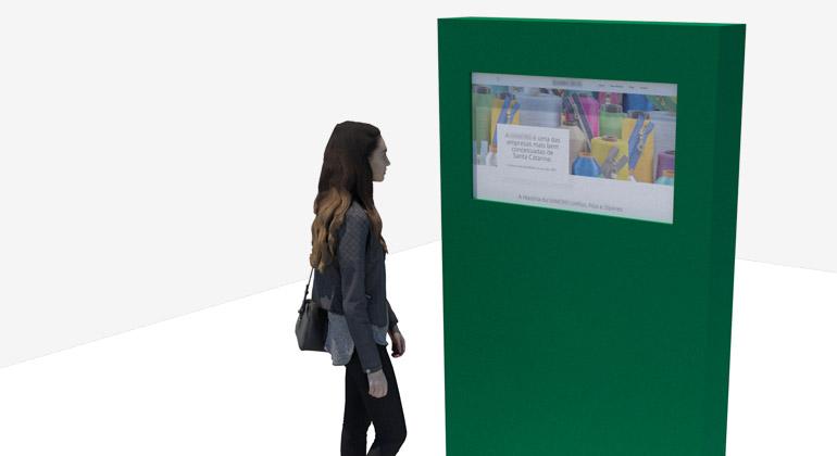 totem touch interativo para museu - Tríscele